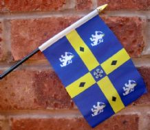 HAND WAVING FLAG (SMALL) - County Durham
